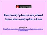 Home Security Systems in Austin, different types of home security syst