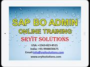 SAP BO ADMIN ONLINE TRAINING | BO ADMIN PROJECT SUPPORT | BO ADMIN