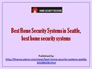 Best Home Security Systems in Seattle, best home security systems