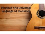Music is the universal