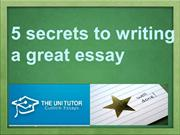 5 secrets to writing a great essay