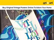 Buy Original Vintage Posters Online To Adorn Your Home