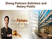 Zhang Partners Solicitors and Notary Public