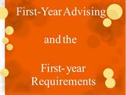 First Year and Undeclared Advising