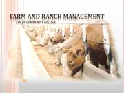 Farm and Ranch Management