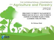 PRECISION NUTRIENT MANAGEMENT THROUGH USE OF LCC AND NUTRIENT EXPERT..
