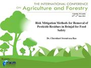 Risk Mitigation Methods for Removal of Pesticide Residues...