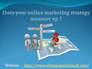 Does your online marketing strategy measure up