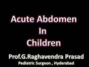acute abdomen in children