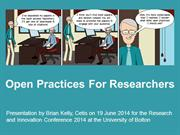 Open Practices For Researchers