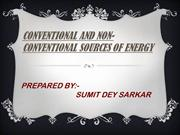 Conventional And Non-ConventionalSources Of Energy