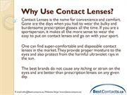 Why Use Contact Lenses