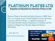 Private Number Plates in UK l Platinum Plates