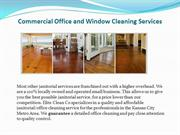 Commercial Office and Window Cleaning Services