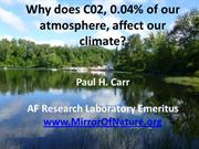 Why Does C02 Affect Our Climate?