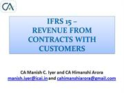 Small ppt on IFRS 15