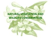 NATURAL VEGETATION AND WILDLIFE CONSERVATIO-2