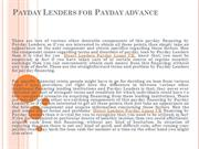 Direct Lenders Payday Loans UK