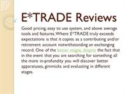 Online E*TRADE Reviews