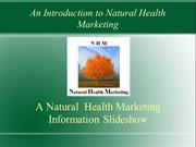 An Introduction to Natural Health Marketing