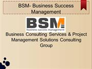 BSM- It & Project Management Consulting Group New Jersey