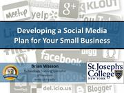 Developing Social Media Plan for Your Small Business