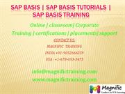SAP Basis  SAP Basis Tutorials  SAP Basis Training