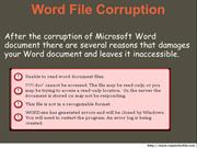How to Recover Corrupted doc File
