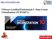 VCP5-DCV Study Material