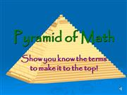 Pyramid of Math