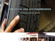 Tips on car care and maintenance