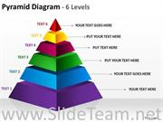 6 Staged Business Triangle For Process Flow