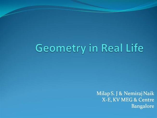 when will i use geometry in real life