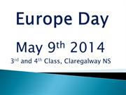 Europe Day 2014- Claregalway NS