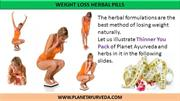 Herbal Weight Loss Pills | Weight Loss Treatment