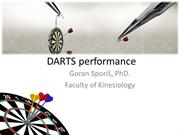 DARTS performance  goran sporis phd