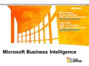 microsoft business inteligence