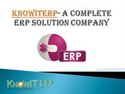 KnowitERP- A Complete ERP solution Compnaye