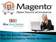 Hire the best developers for Magento ecommerce website development