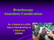 anaesthesia for bronchoscopy