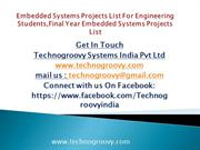 Embedded systems Projects List Offered By Technogroovy