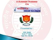 indian railway  summer training ppt