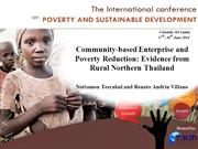 Community-based Enterprise and Poverty Reduction..