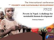 Poverty in Nepal: A challenge for sustainable.....