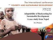 Adaptability of Backcasting for Sustainable Development..