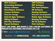 HR Software, TDS Software, Micro Finance Software, RD FD Software, ERP