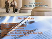 Complete Disability Lawyer, Employees Retirement Lawyer in New York