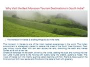 Why Visit the Best Monsoon Tourism Destinations in South India