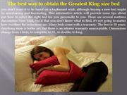 The best way to obtain the Greatest King size bed