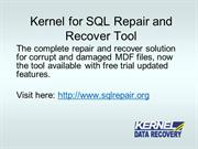 How to repair SQL Server database?